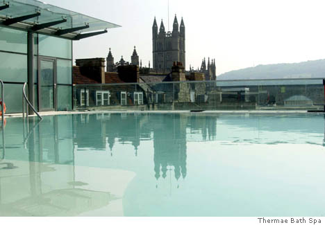 Thermae Bath Spa Only Place In Britain Where Hot Springs Bubble To The Surface August 2006