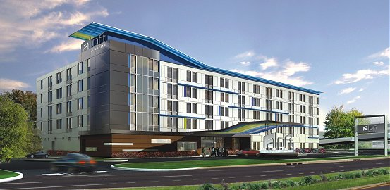 Artist Rendering Of The Rogers Ark Aloft Hotel Exterior View