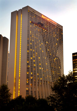 Atlanta Ga March 25 2008 S Largest Hotel Marriott Marquis Located In The Heart Of Peachtree Center Is Well Connected