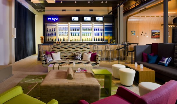 Owned By John Buck Company And Managed Interstate The Aloft Hotel Opens In Rancho Cucamonga California S Signature Bar W Xyz Expected To Be Local