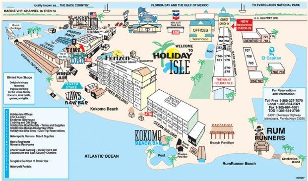 holiday isle florida map