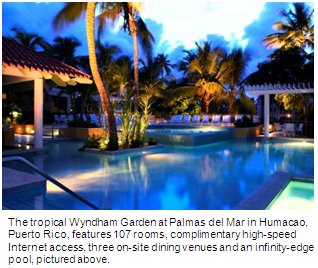 guests can enjoy the outdoor infinity edge pool with swim up bar whirlpool and separate childrens pool the hotel also provides access to a variety of - Wyndham Garden Palmas Del Mar