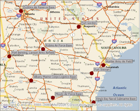 Mustering military demand in southeastern hotel markets military other bases throughout georgia which collectively generate significant demand for local hotels are listed on the map below publicscrutiny Gallery