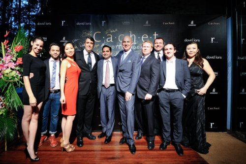 The Cachet Hotel Group management team celebrates their global launch at an event in Shanghai, China (PRNewsFoto/Cachet Hotel Group)
