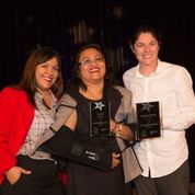 Claudia Ludlow, Fe Herron & Kari Carty were present to accept the awards.