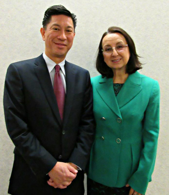Pictured above: CHTA President Emil Lee with President-Elect Karolin Troubetzkoy