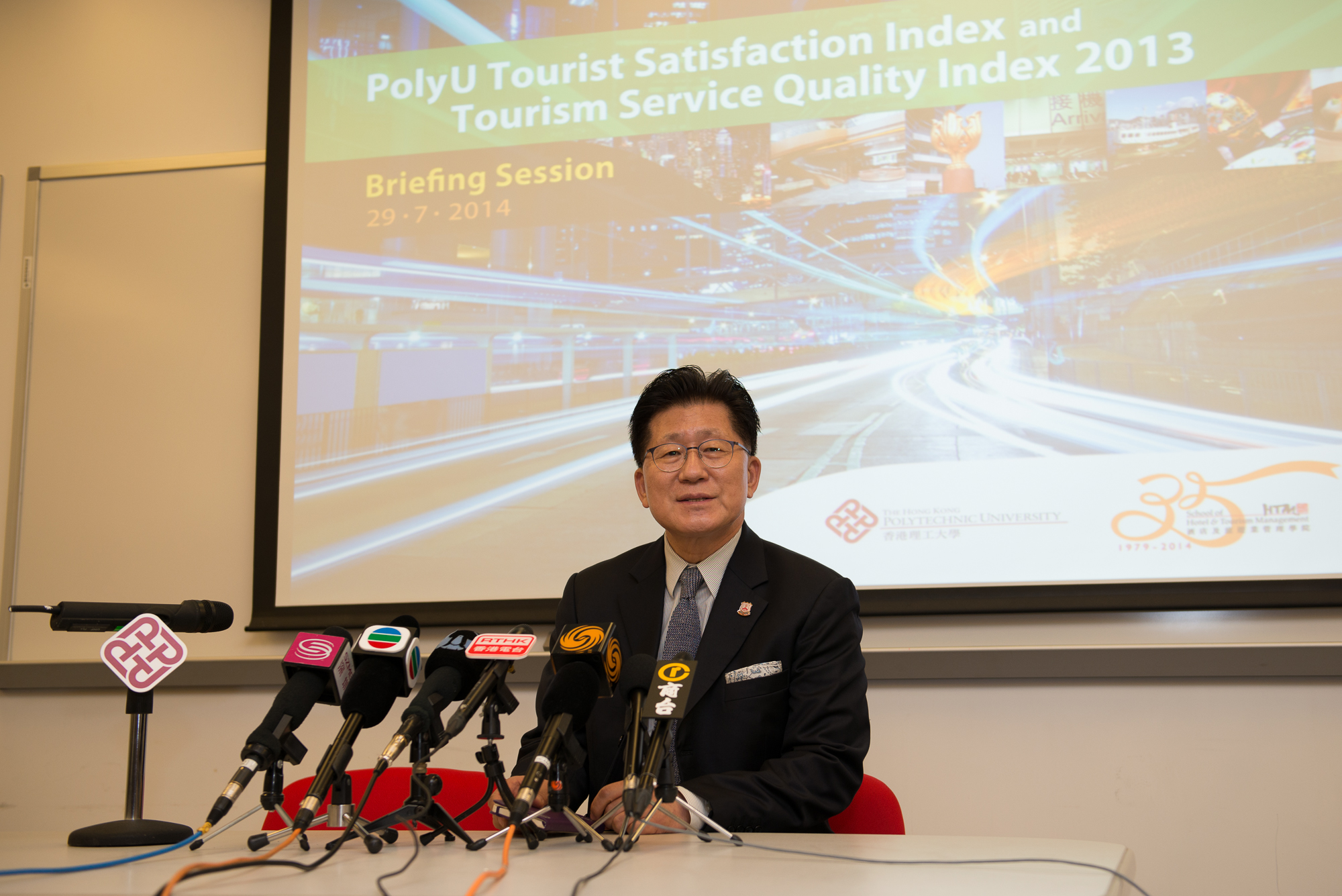 Professor Kaye Chon, SHTM Dean and Principal Investigator of the PolyU TSQI delivered his welcome remarks.