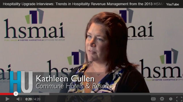 Hospitality Upgrade interviews industry experts at HSMAI ROC 2013 to gain insight into the top trends in revenue management