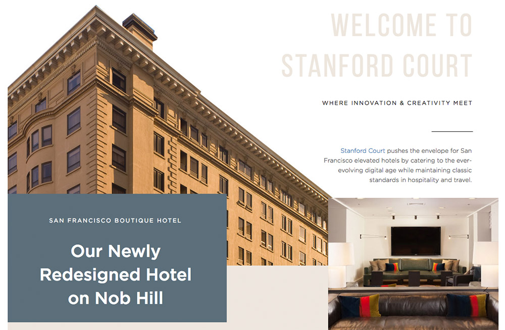 Serif font example on Hotel Abri SF