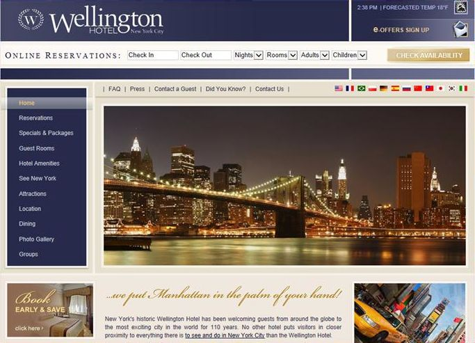 The Wellington Hotel in New York, using Pegasus' Open Hospitality, allotted inventory to encourage direct site bookings for the Super Bowl.